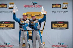 Race winners Cameron Cassels, Trent Hindman, Bodymotion Racing