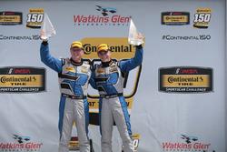 Race winners Cameron Cassels, Trent Hindman, Bodymotion Racing