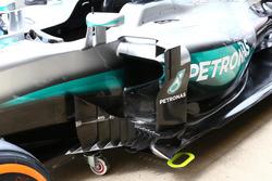 Détails des déflecteurs de la Mercedes W07 Hybrid