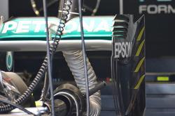 Mercedes achtervleugel detail
