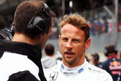Jenson Button, McLaren sur la grille