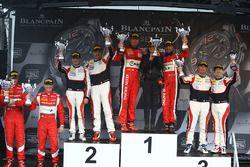 Podium Pro Am: winner #11 Kessel Racing Ferrari 488 GT3: Michal Broniszewski, Giacomo Piccini, secon