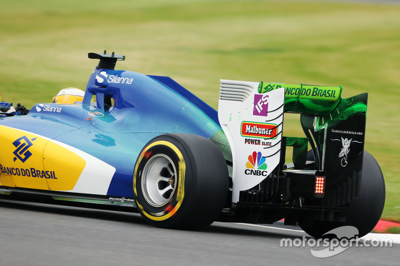 Marcus Ericsson, Sauber C35 with flow-vis paint on the engine cover and rear wing