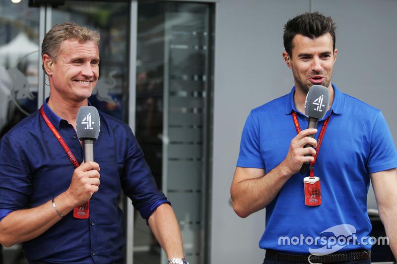 David Coulthard, Red Bull Racing y Scuderia Toro asesor / canal 4 comentarista de F1 con Steve Jones