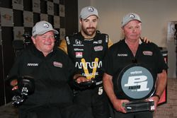 James Hinchcliffe, Schmidt Peterson Motorsports Honda pole winner, Sam Schmidt and Ric Peterson