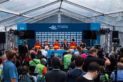 Pressekonferenz: Jürgen Abt, Nick Heidfeld, Daniel Abt, René Rast, Lucas di Grassi, Sébastien Buemi