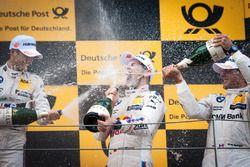 Podium: Tom Blomqvist, BMW Team RBM, BMW M4 DTM; Marco Wittmann, BMW Team RMG, BMW M4 DTM; Bruno Spengler, BMW Team MTEK, BMW M4 DTM