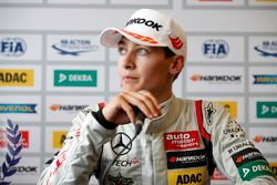 Press conference, George Russell, HitechGP, Dallara F312 - Mercedes-Benz,
