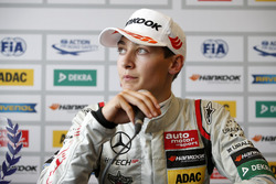 Persconferentie, George Russell, HitechGP, Dallara F312 - Mercedes-Benz,