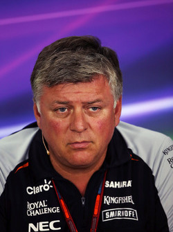 Otmar Szafnauer, Chief Operating Officer Sahara Force India F1 nella conferenza stampa FIA