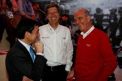 Pierre Fillon, ASO; Ralf Jüttner; El Dr. Wolfgang Ullrich, jefe de Audi sport