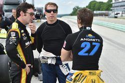 Simon Pagenaud, Brad Keselowski und Marco Andretti