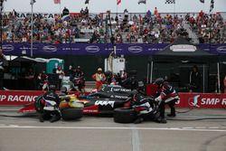 Mikhail Aleshin, Schmidt Peterson Motorsports Honda aux stands