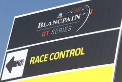 Señalización de control de carrera