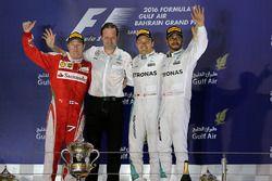 Podium: race winner Nico Rosberg, Mercedes AMG F1 Team, second place Kimi Raikkonen, Ferrari, third place Lewis Hamilton, Mercedes AMG F1 Team