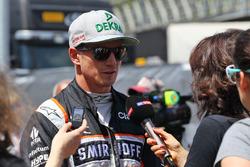 Nico Hulkenberg, Sahara Force India F1avec les médias