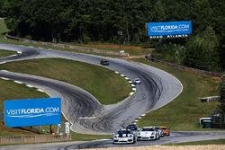 #12 Bodymotion Racing Porsche Cayman GT4: Cameron Cassels, Trent Hindman, #35 CJ Wilson Racing Porsc