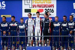 Podium LMP3: i vincitori della gara #9 Graff Racing Ligier JS P3 - Nissan: Eric Trouillet, Paul Peti