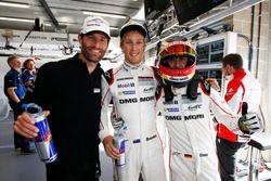 Les polemen en LMP1 Mark Webber, Brendon Hartley, Timo Bernhard, Porsche Team