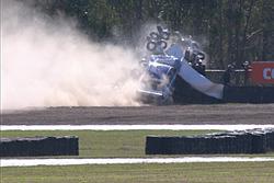 Scott Pye, DJR Team Penske, fuerte choque