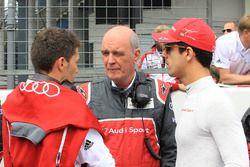 Dr. Wolfgang Ullrich, jefe de Audi Sport, Lucas di Grassi, Loic Duval, Audi Sport Team Joest