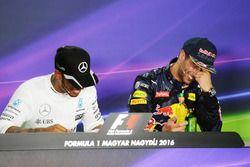 Lewis Hamilton, Mercedes AMG F1 and Daniel Ricciardo, Red Bull Racing in the FIA Press Conference
