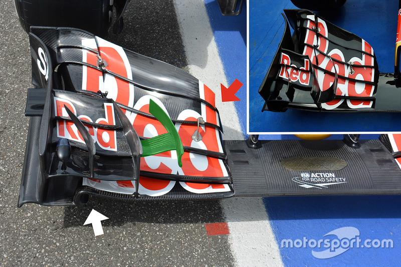 Toro Rosso STR11 front wing detail