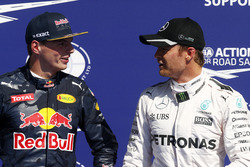 Max Verstappen, Red Bull Racing with Nico Rosberg, Mercedes AMG F1