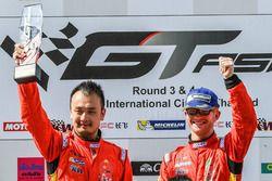Podium: winners #37 BBT Ferrari 488 GT3: Davide Rizzo, Anthony Liu