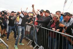 Nico Hulkenberg, Sahara Force India F1 at the Sahara Force India F1 Team Fan Zone at Woodlands Camps