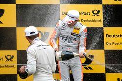 Podium: Robert Wickens, Mercedes-AMG Team HWA, Mercedes-AMG C63 DTM und Marco Wittmann, BMW Team RMG