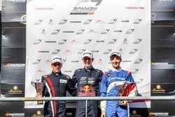 Podium: tweede Juho Valtanen, winnaar Richard Verschoor en derde Alexander Vartanyan
