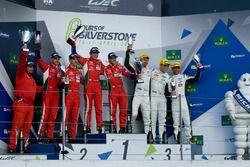 LMGTE Pro podium: winnaars, Davide Rigon, Sam Bird, AF Corse, Gianmaria Bruni, James Calado, tweede