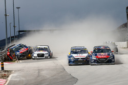 Sébastien Loeb, Team Peugeot Hansen, et Johan Kristoffersson, Volkswagen Team Sweden