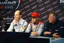 Wolfgang Reip, Bentley; Laurens Vanthoor, Audi con Christian Kelders