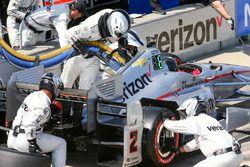 Juan Pablo Montoya, Team Penske Chevrolet pit action