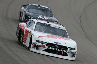 Cole Custer, Stewart-Haas Racing, Ford Mustang Haas Automation and Kyle Busch, Joe Gibbs Racing, Toyota Supra Extreme Concepts/iK9