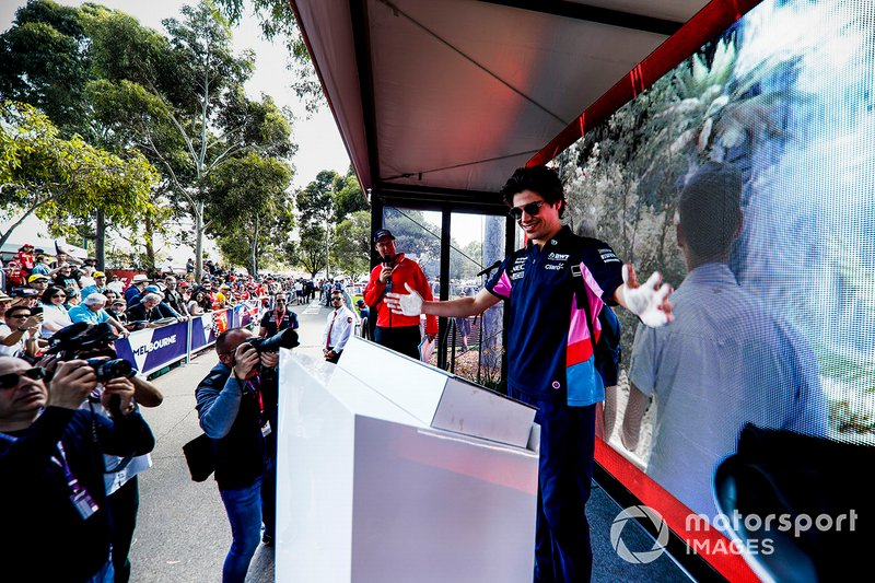 Lance Stroll, Racing Point hand mould
