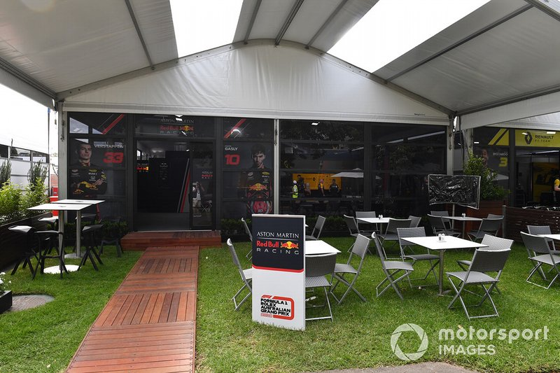 The Red Bull Racing hospitality area