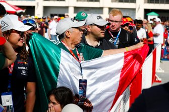 Fan of Sergio Perez, Racing Point with Mexican flag