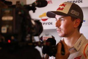 Jorge Lorenzo, Repsol Honda Team, with media