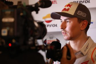 Jorge Lorenzo, Repsol Honda Team, with media