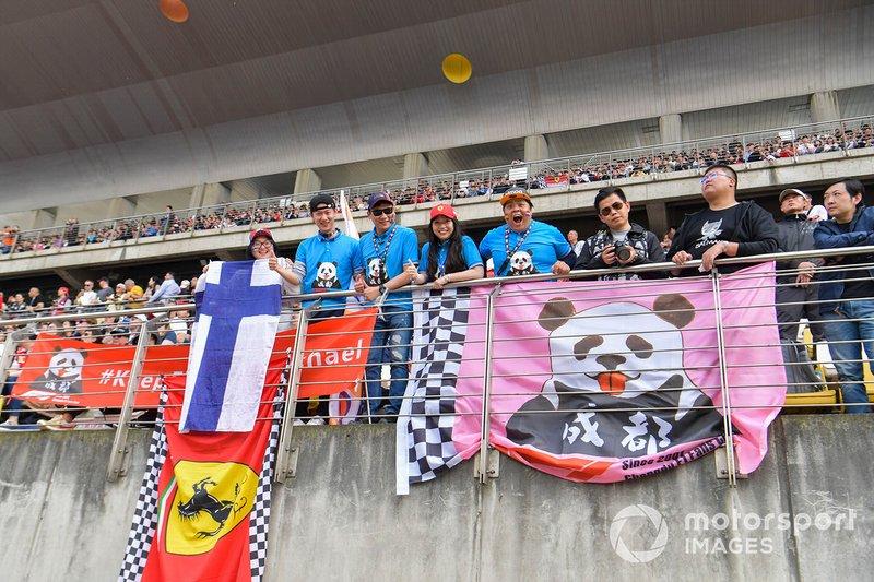 Crowd support for Ferrari