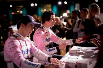 Sergio Perez, Racing Point, Lance Stroll, Racing Point sign autographs for the fans