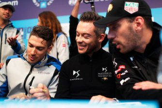 Edoardo Mortara, Venturi Formula E, Andre Lotterer, DS TECHEETAH, Jean-Eric Vergne, DS TECHEETAH at the autograph session