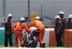 Bike of Danilo Petrucci, Ducati Team after the crash