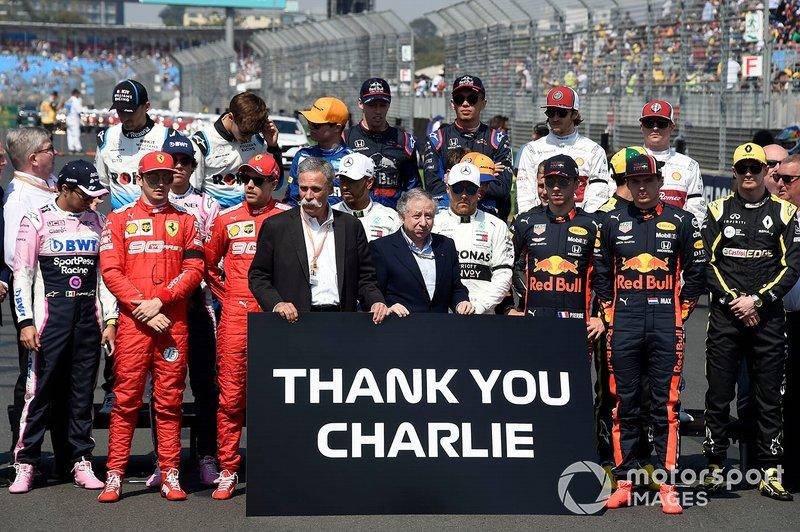 F1 hace un tributo para Charlie Whiting, director de carrera de FIA