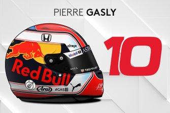 El casco 2019 de Pierre Gasly