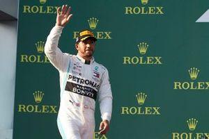 Podyum: 2. Lewis Hamilton, Mercedes AMG F1