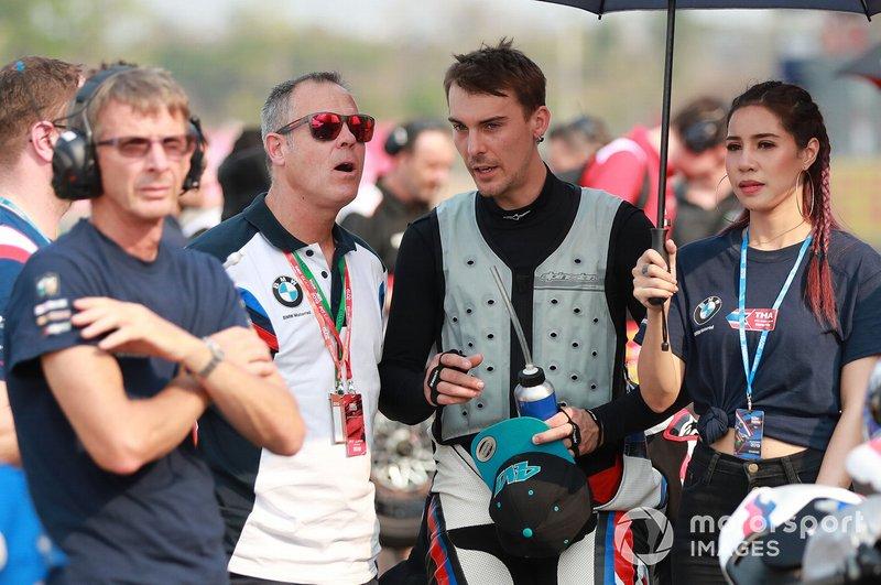 Markus Reiterberger, BMW Motorrad WorldSBK Team, mit Shaun Muir